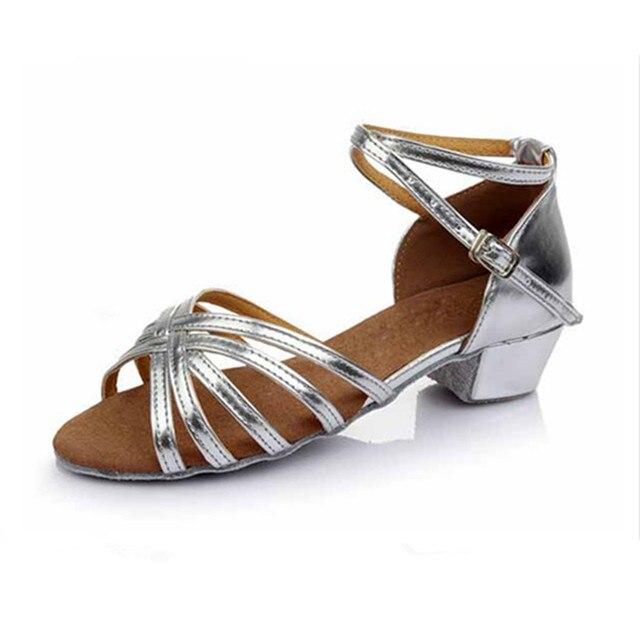 Zapatillas de baile latino Zapatos de salón con detalle de hebilla de punta de cuero de vaca Zapatos de baile de mujer mihvk6