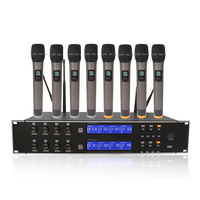 Packet mail R U8800 eight channel wireless microphone speaker microphone can be infrared FM