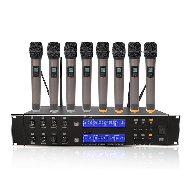 Paketpost R-U8800 åtta kanals trådlös mikrofonhögtalarmikrofon - Bärbar ljud och video