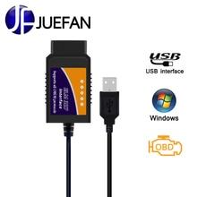 HOT Car diagnostics easydiag ELM327 USB Plastic OBD2 Auto Diagnostic Tool obd 2 usb ELM 327 USB OBDII CAN-BUS Scanner