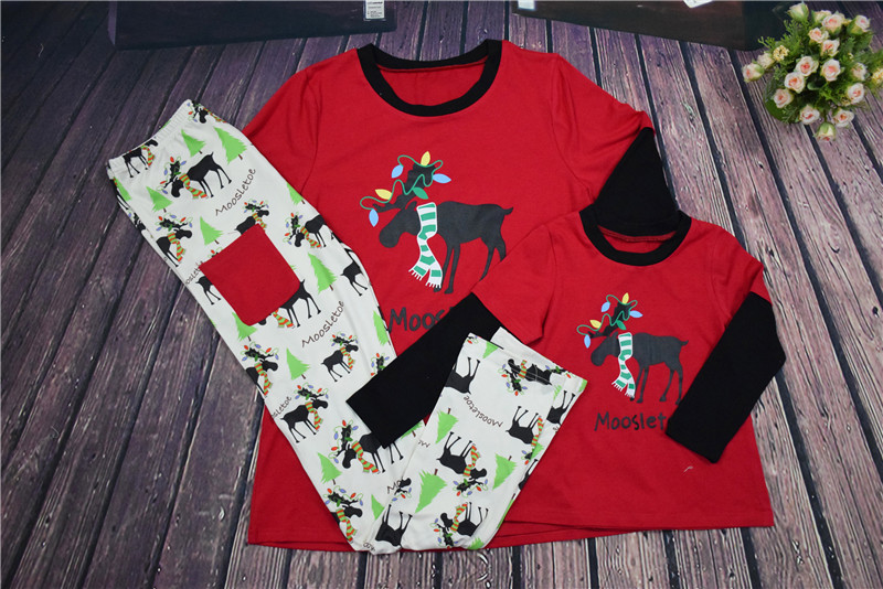 Family Christmas Pajamas Family Matching Clothes Matching Mother Daughter  2016 Fashion Father Son Mon New Year Family Look Sets ddf43a8cd