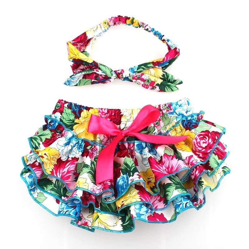 Floral algodón bebé Bloomers recién nacido cubierta del pañal - Ropa de bebé - foto 5