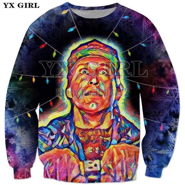 e6e2857b0a7 YX Girl 3d Printed Clothes Mens Christmas Vacation Lights Sweatshirt Women Men  Christmas Gift Polyester Long Sleeve Pullover