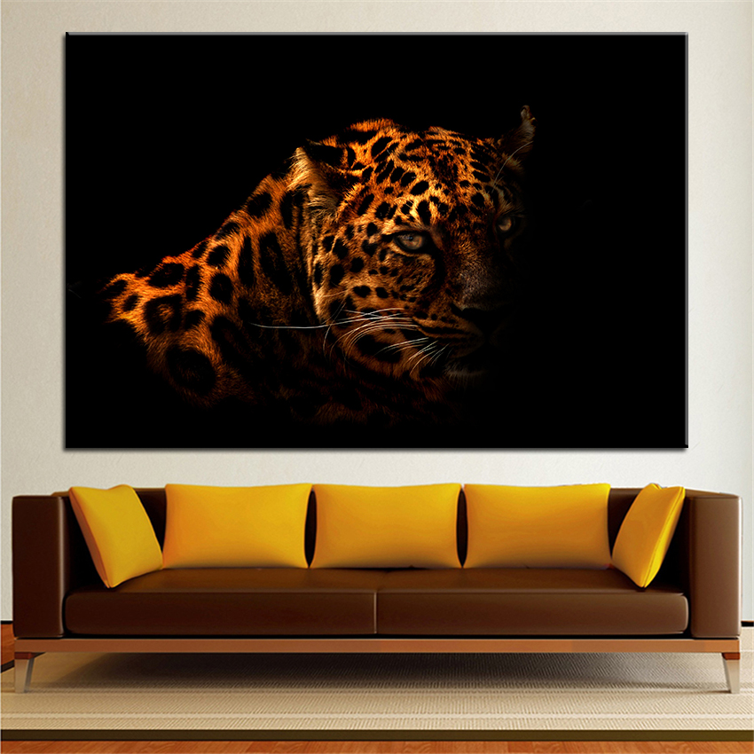 Large size printing oil painting leopard wall painting for Living room 12x18