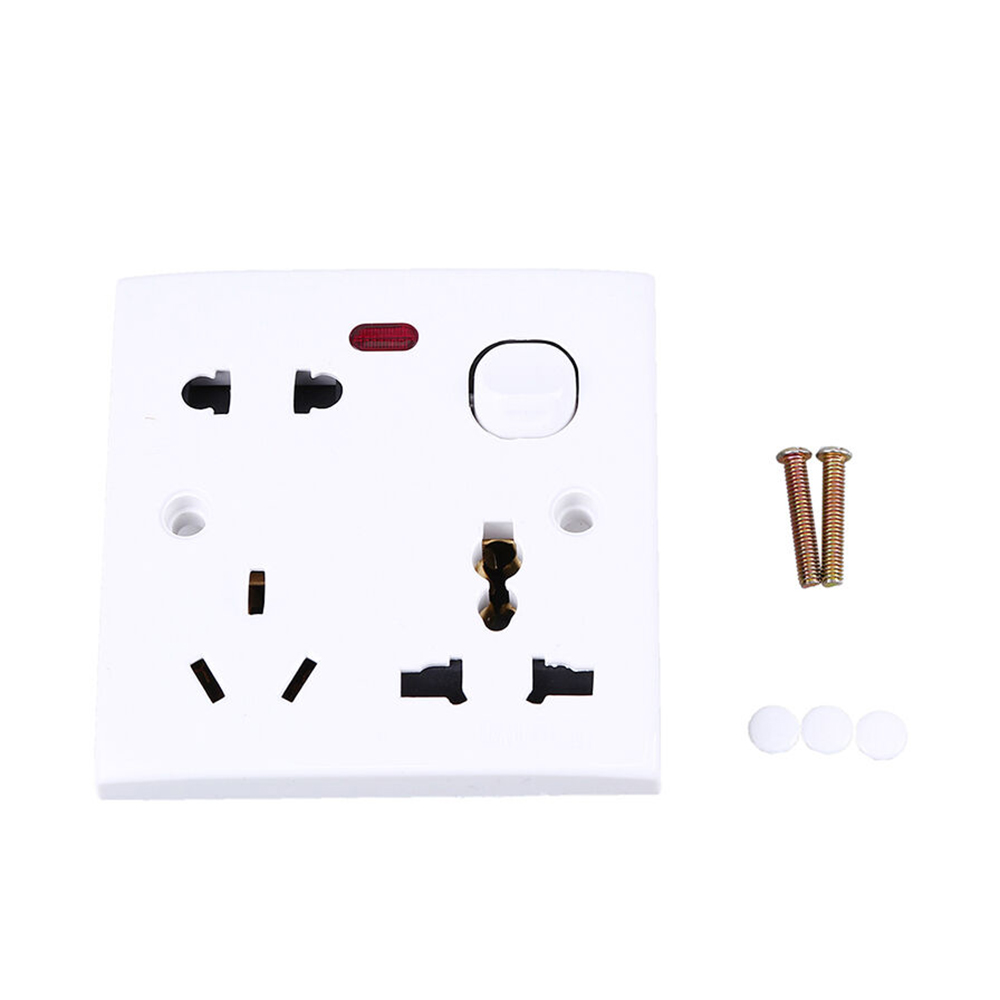 US/UK/EU Plug Home Safe Electrical Outlet Panel Switch New 250V 10A AC Electric Wall Socket