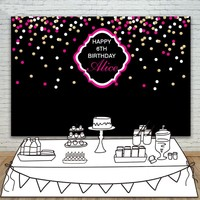 DIY Custom Baby Shower Black Wall Colour Cirlce Party Customize Backgrounds Vinyl Cloth Computer Printed Birthday
