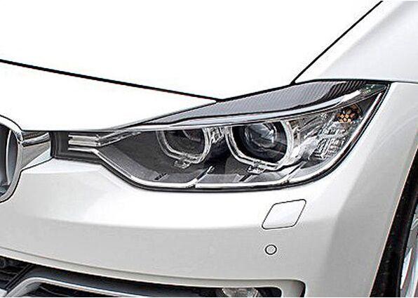 Voiture De Fiber De carbone paupières de Phares Cover Version Autocollant pour BMW F30 2011-2015