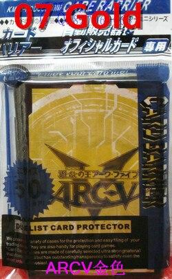 KMC 50 PCS YuGiOh ARC-V mangas de la tarjeta Juegos de mesa protector - Figuritas de juguete - foto 5