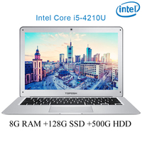 """מחברת מחשב נייד P7-01 8G RAM 128g SSD 500G HDD i5 4210U 14"""" Untral-דק מחשב שולחני מחשב נייד מחברת Gaming (1)"""
