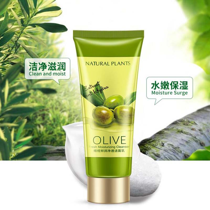 OneSpring Olive Facial Cleanser Rich Foaming Facial Cleansing Moisturizing Oil Control Face Skin Care Cleanser - 4