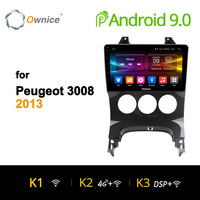 Ownice K1 K2 K3 Octa 8 Core Android 9.0 DVD player headunit audio Navi for Peugeot 2009 2010 2011 2012 2013 3008 4G LTE 2G+32G