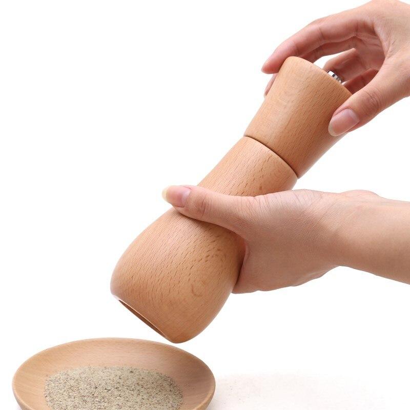 Manual Spice grinder Pepper Mill wood Salt Grinder Muller kitchen accessories Kitchen Tool kitchen gadgets Spice Sauce Grinder