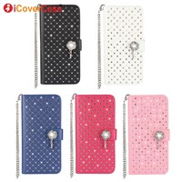 For Samsung Galaxy S8 Cover Glitter Bling Diamond Luxury Rhinestone Leather Wallet Case For Samsung Galaxy