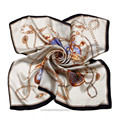 90*90CM 100%Silk Square Scarf Luxury Brand Chain Floral Printed Scarves Women Spring Summer Scarves Designer Shawls and Wraps S3