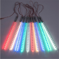 DHL free 4set/lot Christmas tree decoration led meteor tube ,10pcs 30cm tubes/set ,85 265Vac outdoor falling star holiday light