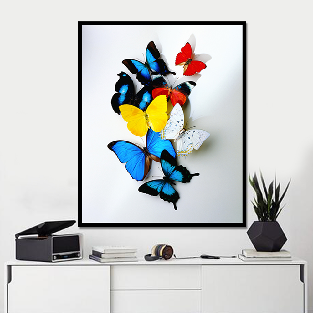 online get cheap simple butterfly pictures aliexpress com drop shipping colorful butterfly canvas prints wall art poster wall pictures for living room modern home decor nordic decoration