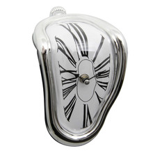 Surreal Melted Twisted Wall Clock Salvador Dali Styled Clock Amazing Home Decor Gifts surreal detachment