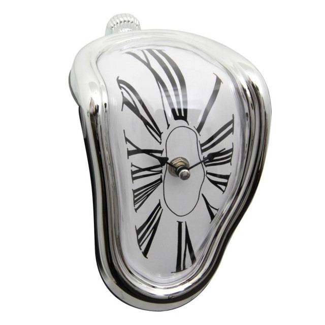 Surreal Melted Twisted Wall Clock Salvador Dali Styled Clock Amazing Home Decor Gifts