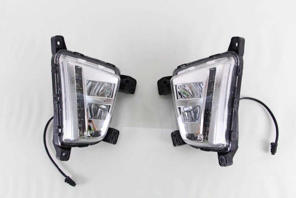 2 шт. Белый светодиодный очень яркий DRL дневные ходовые огни Противотуманные фары для hyundai IX25