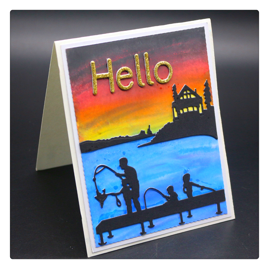 YINIS1706 FATHER BABIEScrapbook Metal Cutting Dies For Scrapbooking Stencils DIY Album Cards Decoration Embossing Folder Die Cut in Cutting Dies from Home Garden