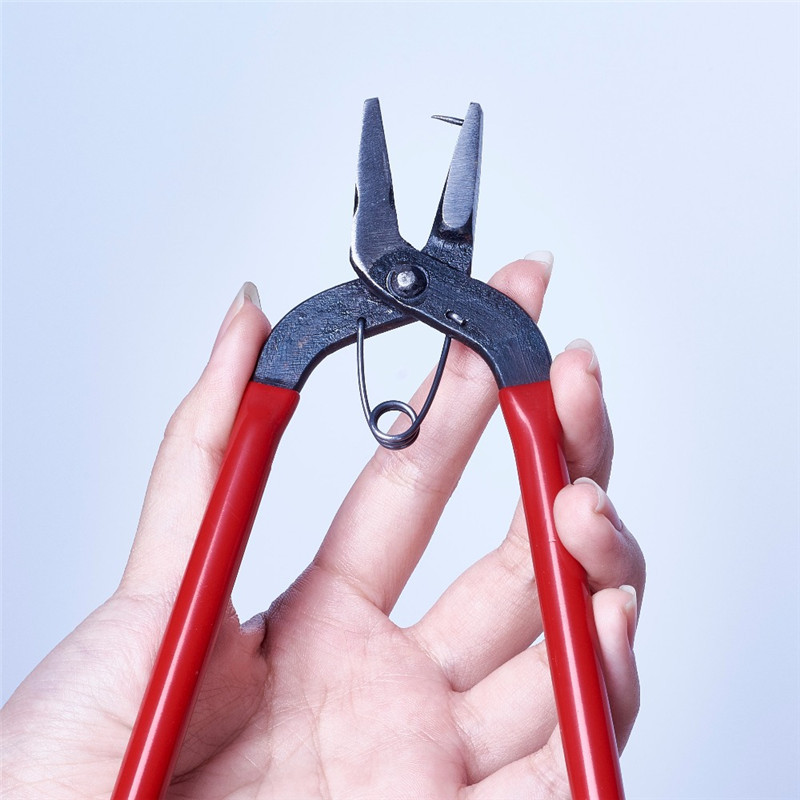 Pandahall 1 Pliers Tools , Red Hole Punch Pliers For Jewelry DIY Making, 155x85x11mm, Pin: 1mm F70
