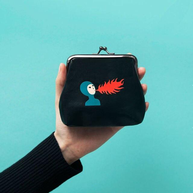 """YIZI PU clutch bag coin purses with metal hasp in """"little tiger"""" series [FUN KIK]"""
