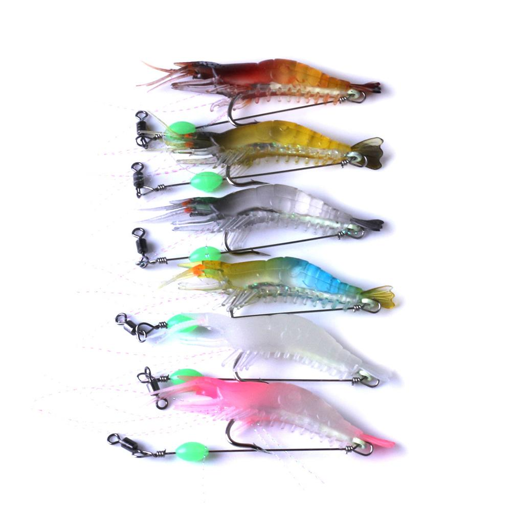 80mm 5.3g Artificial Lure Bait Soft Shrimp Lure Fishing Hammer Crab Clamp Shrimp Sauce Green Bait Swimbait Fake Fish Peche