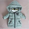 New Year Boys Fur Medium-long Costume Solid Color Hooded Children Thick Wadded Jaccket Discount
