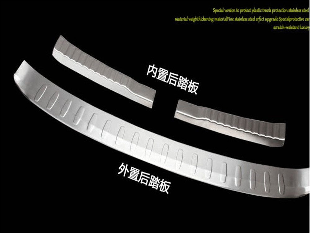 FIT FOR HONDA CRV CR-V 2012 2013 2014 REAR BUMPER PROTECTOR CARGO STEP PANEL COVER SILL PLATE TRUNK TRIM GARNISH