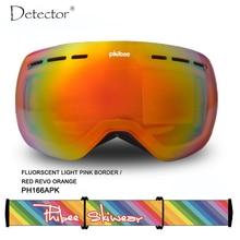 Detektor skibrille doppel UV400 anti-fog big ski maske brille skifahren männer frauen schnee snowboardbrillen