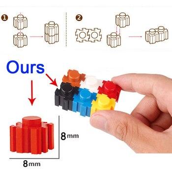 DOLLRYGA 6200 Uds grandes dibujos animados animales Micro bloques de construcción de plástico DIY Asamblea juguete educativos para niños de ladrillos