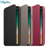 Ollyden Oficjalna Oryginalna Karta Portfel Klapki Skórzane Etui Dla iPhone X 10 Pokrywa Ochronna Powłoka Dla iPhone X Case Capa Funda