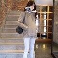 Женщины Замши, бархата теплая Куртка женская Мода свободно с Поясом и пиджаки дамы искусственной кожи пальто Женщин Сгущать пальто LX6051