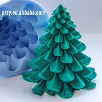 シリコーンフォームクリスマスツリー石鹸金型シリコーンの金型金型石鹸金型キャンドル金型石鹸を作る金型アロマ石鋳