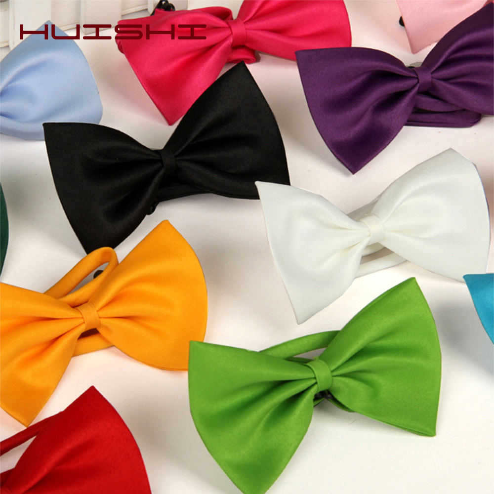HUISHI 50/100 Pcs/lot 8 Color Wholesale Pet Bow Tie Grooming Accessorie Adjustable Rabbit Cat Dog Bow Tie Multicolor Pet Product