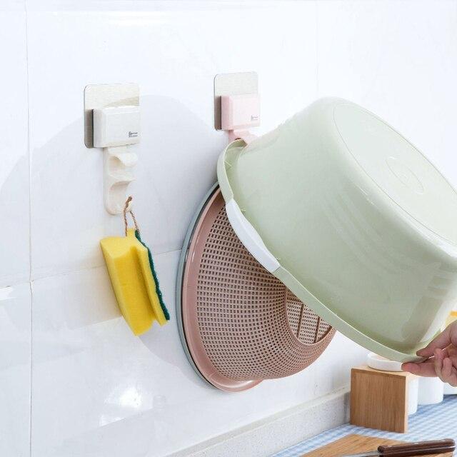 Portable Home No Trace Suction Hook Bathroom Wall Wash Basin Hook Bathroom  Wall Hanging Stick Towel