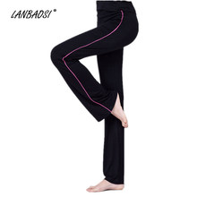 LANBAOSI Losse YOGA Broek voor Vrouwen Hoge Taille Yoga Stretch Dance Running Fitness Gym Workout Lange Sport Bottom Broek(China)