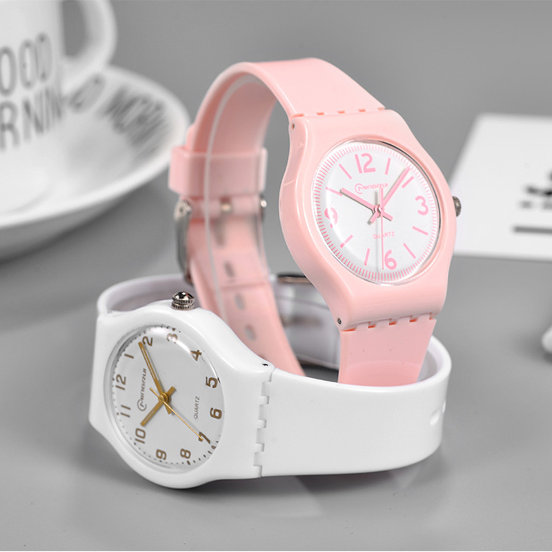 Fashion Simple Children Watches Sweet Cute Waterproof Quartz Wristwatches Jelly Kids Clock Sport Student Watch For Boy Girl 2019