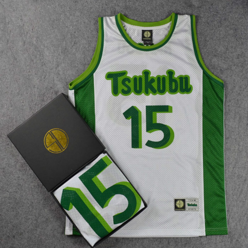 Alert Slam Dunk Cosplay Costume Tsukubu High School Basketball Team 15 Yuichiro Nanxiang Jersey Tops Shirt Sports Wear Uniform