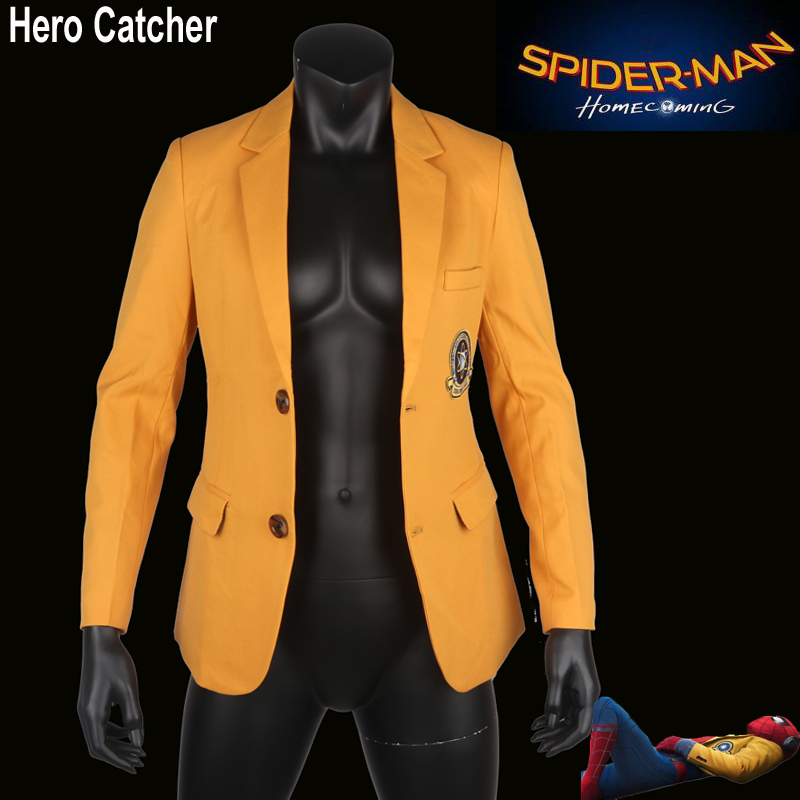 Hero Catcher High Quality Homecoming Spiderman Jacket 2017 Spiderman Coat Tom Spiderman Jacket Spiderman School Coat Homecoming