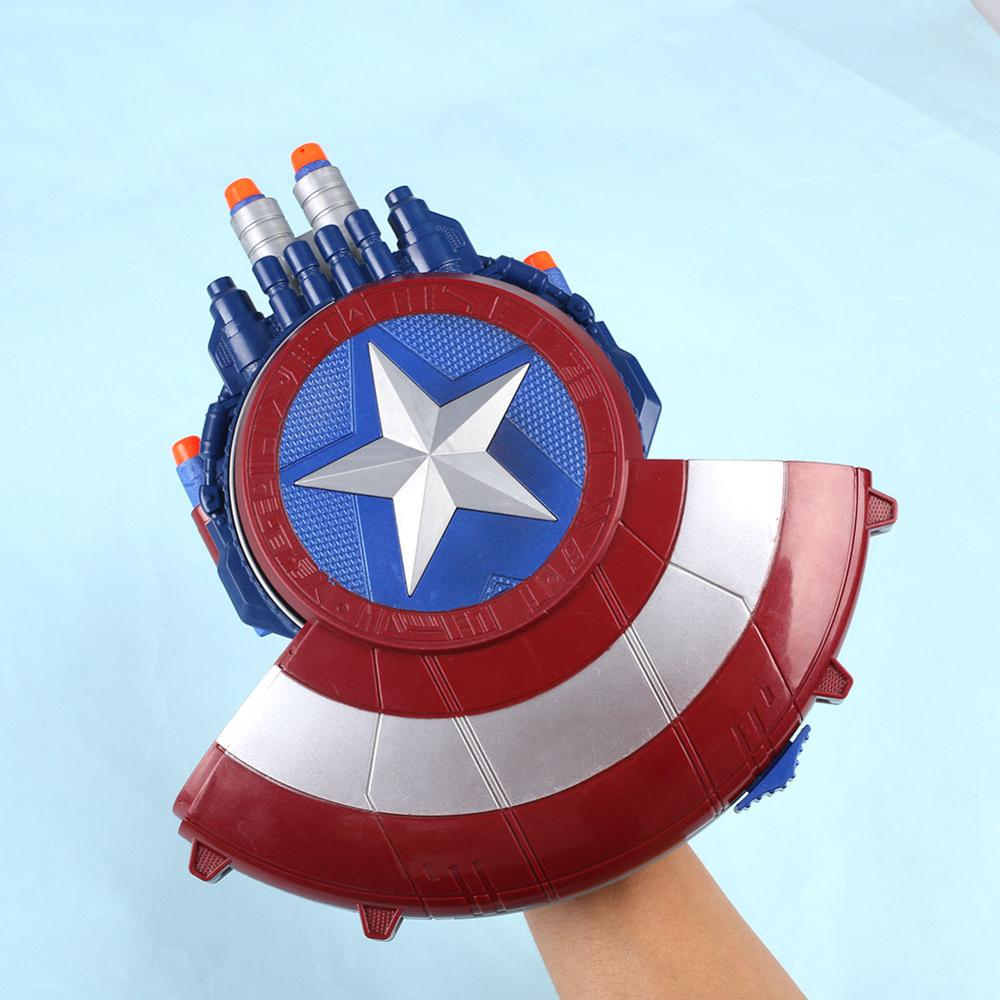 Captain America Shield With Sound Light Toys Action Figure Brinquedo Toy Kids Christmas Gift #1813 Free Shipping sailor moon 13cm toys action figure brinquedo toy 1939 kids christmas gift free shipping