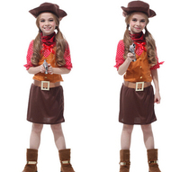Halloween Cosplay 110 140cm Clothing 5 Pcs Set Kid Girl Cow Costume Fashion Cute Stage Party