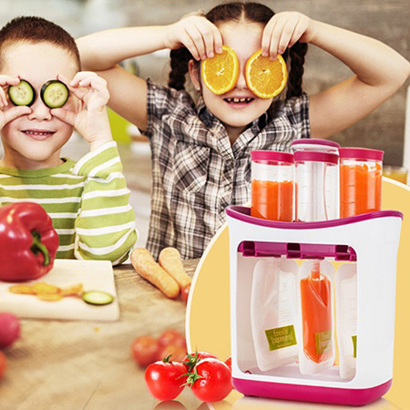 Multifunctional Baby Food Processor Manual Grinder Puree Squeezer Machine Food Mill Hand Vegetable Squeeze Kitchen Food Grinder