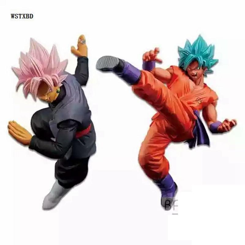 WSTXBD BANPRESTO Original Dragon Ball Z DBZ FES Fighting Black Rose Goku Blue God Goku PVC Figure Toys Figurals Dolls Vol.05 dragon d1 xt frame simon chamberlain lens blue steel rose
