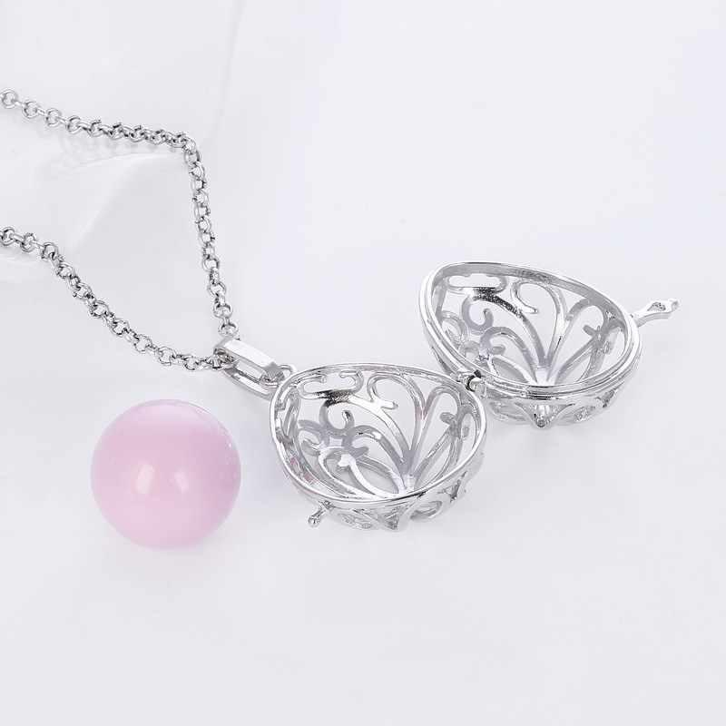 5 kolory kwiat Hollow Out kobieta w ciąży naszyjnik anioł meksyk Bola w ciąży piłka matka sweter łańcucha kobiet prezent