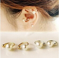 EY592 2015 new Korean pearl ear bones clip U clip earrings invisible without pierced ear clip Jewelry Wholesale