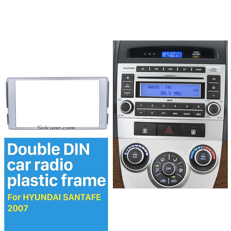 Seicane 17398mm 2 Din Car Radio Fascia Dvd Stereo Frame For 2007 Rhaliexpress: Hyundai Santa Fe Radio Bezel At Gmaili.net