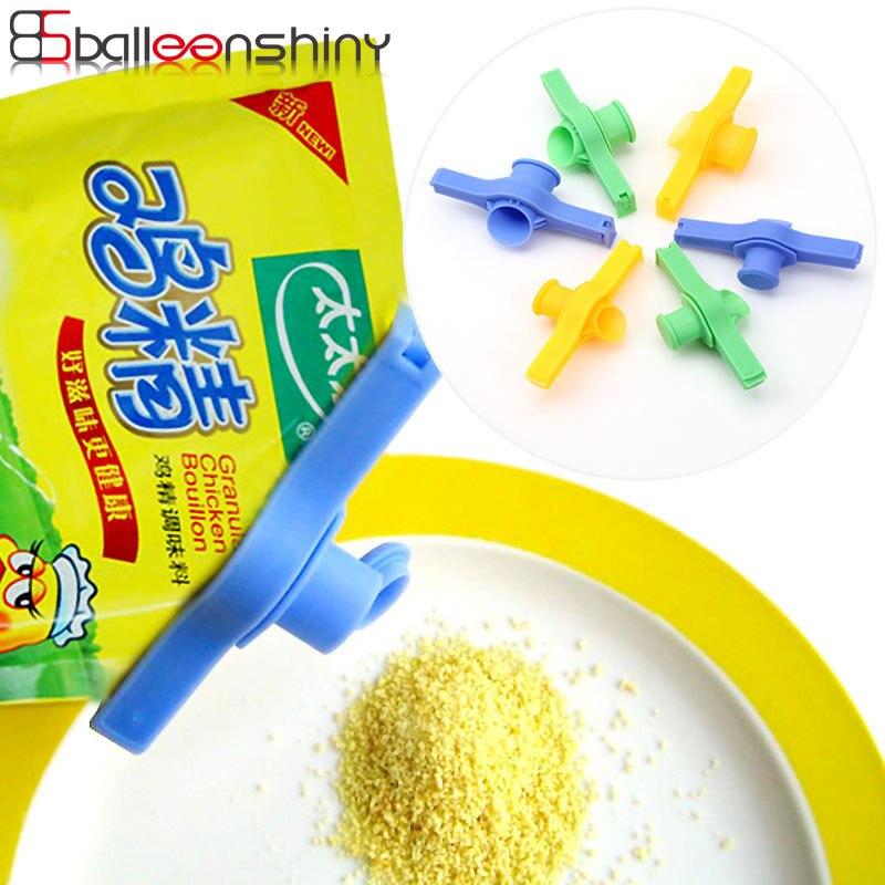 Ordinato Balleenshiny Plastica Per Uso Domestico Sacchetto Di Tenuta Ugello Di Scarico Sigillare Il Tubo Di Tenuta Clip Di Cibo Clip Di Tenuta Tromba Utensili Da Cucina Bello A Colori