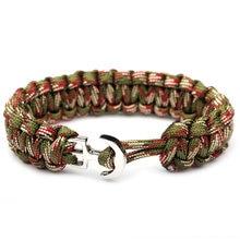 Плетеная веревка pulseras для выживания на природе браслеты