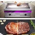 220В Коммерческая электрическая печь-гриль 2 тарелки плоская/волновая Плита барбекю гриль машина теппаняки гриль 16 мм Глубина пластины